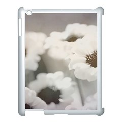 Black And White Flower Apple Ipad 3/4 Case (white) by trendistuff