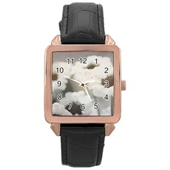 Black And White Flower Rose Gold Watches by trendistuff