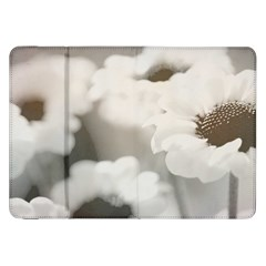 Black And White Flower Samsung Galaxy Tab 8 9  P7300 Flip Case by trendistuff