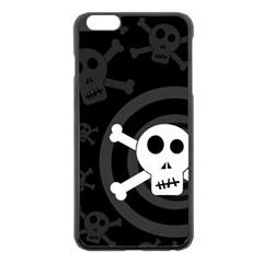 Skull & Crossbones Apple Iphone 6 Plus/6s Plus Black Enamel Case