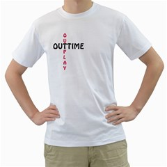 Outtime / Outplay Men s T Shirt (white) (two Sided)