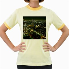 TOKYO NIGHT Women s Fitted Ringer T-Shirts by trendistuff