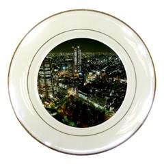 TOKYO NIGHT Porcelain Plates by trendistuff