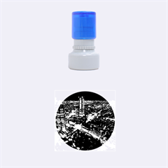 TOKYO NIGHT Rubber Round Stamps (Small) by trendistuff