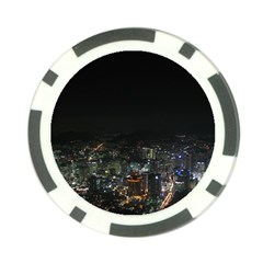 Seoul Night Lights Poker Chip Card Guards (10 Pack)  by trendistuff