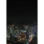 SEOUL NIGHT LIGHTS GIRL 3D Greeting Card (7x5)  Inside