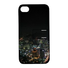 Seoul Night Lights Apple Iphone 4/4s Hardshell Case With Stand by trendistuff