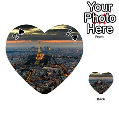 PARIS FROM ABOVE Playing Cards 54 (Heart)  by trendistuff