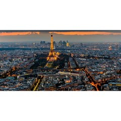 Paris From Above You Are Invited 3d Greeting Card (8x4)  by trendistuff