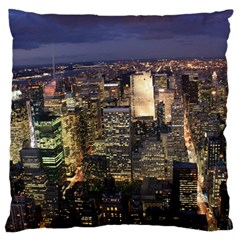 NEW YORK 1 Large Flano Cushion Cases (One Side)  by trendistuff