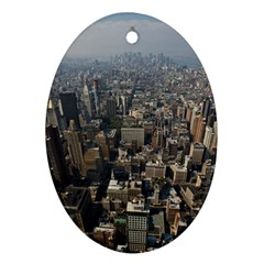 Manhattan 2 Ornament (oval)  by trendistuff