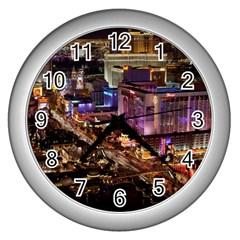 Las Vegas 2 Wall Clocks (silver)  by trendistuff