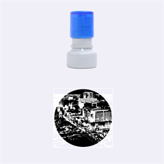 Las Vegas 2 Rubber Round Stamps (small) by trendistuff