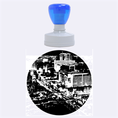 Las Vegas 2 Rubber Round Stamps (large) by trendistuff