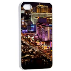 Las Vegas 2 Apple Iphone 4/4s Seamless Case (white) by trendistuff