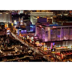 Las Vegas 2 Birthday Cake 3d Greeting Card (7x5)