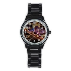 Las Vegas 2 Stainless Steel Round Watches by trendistuff