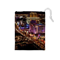 Las Vegas 2 Drawstring Pouches (medium)  by trendistuff