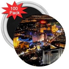 Las Vegas 1 3  Magnets (100 Pack) by trendistuff