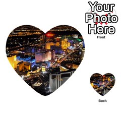 Las Vegas 1 Multi Purpose Cards (heart)  by trendistuff