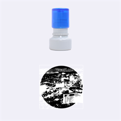 Las Vegas 1 Rubber Round Stamps (small) by trendistuff
