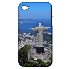 Christ On Corcovado Apple Iphone 4/4s Hardshell Case (pc+silicone)