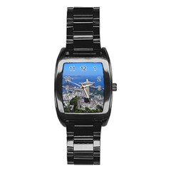 Christ On Corcovado Stainless Steel Barrel Watch by trendistuff
