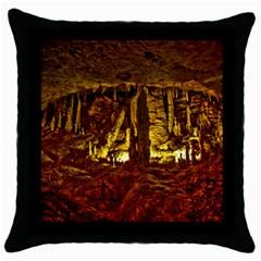 Volcano Cave Throw Pillow Cases (black) by trendistuff