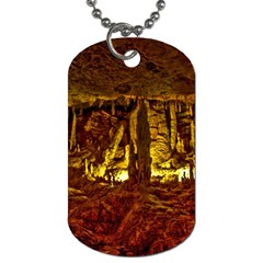 Volcano Cave Dog Tag (two Sides) by trendistuff