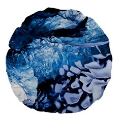 Svmnafellsjvkull Large 18  Premium Flano Round Cushions by trendistuff