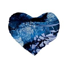 Svmnafellsjvkull Standard 16  Premium Flano Heart Shape Cushions by trendistuff