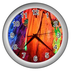 Reed Flute Caves 4 Wall Clocks (silver)  by trendistuff