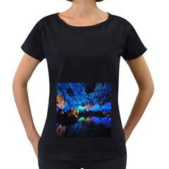 REED FLUTE CAVES 2 Women s Loose-Fit T-Shirt (Black) by trendistuff