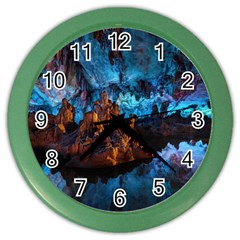 Reed Flute Caves 1 Color Wall Clocks by trendistuff