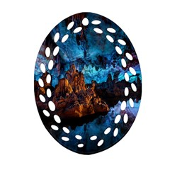 Reed Flute Caves 1 Oval Filigree Ornament (2 Side)  by trendistuff