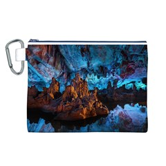 Reed Flute Caves 1 Canvas Cosmetic Bag (l) by trendistuff