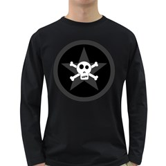 Star Skull Long Sleeve Dark T Shirts