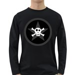 Star Skull Long Sleeve Dark T-Shirts