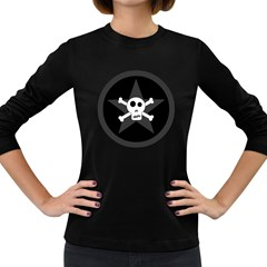 Star Skull Women s Long Sleeve Dark T Shirts