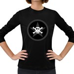 Star Skull Women s Long Sleeve Dark T-Shirts