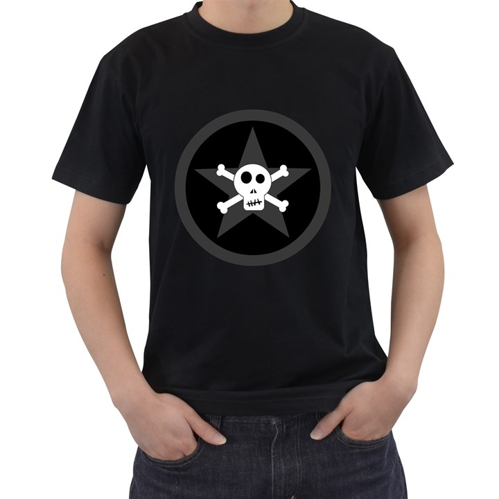 Star Skull Men s T-Shirt (Black)