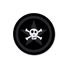 Star Skull Rubber Round Coaster (4 Pack)