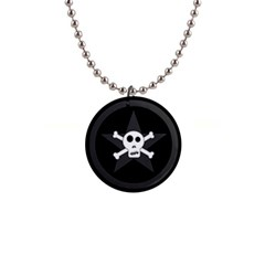 Star Skull Button Necklaces by waywardmuse