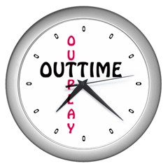 Outtime / Outplay Wall Clocks (silver)