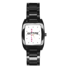 Outtime / Outplay Stainless Steel Barrel Watch