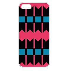 Rhombus And Stripes Patternapple Iphone 5 Seamless Case (white) by LalyLauraFLM