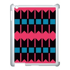 Rhombus And Stripes Pattern			apple Ipad 3/4 Case (white) by LalyLauraFLM