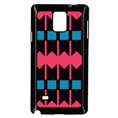 Rhombus And Stripes Pattern			samsung Galaxy Note 4 Case (black) by LalyLauraFLM