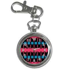 Rhombus And Stripes Pattern			key Chain Watch by LalyLauraFLM
