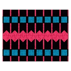 Rhombus And Stripes Pattern			jigsaw Puzzle (rectangular) by LalyLauraFLM